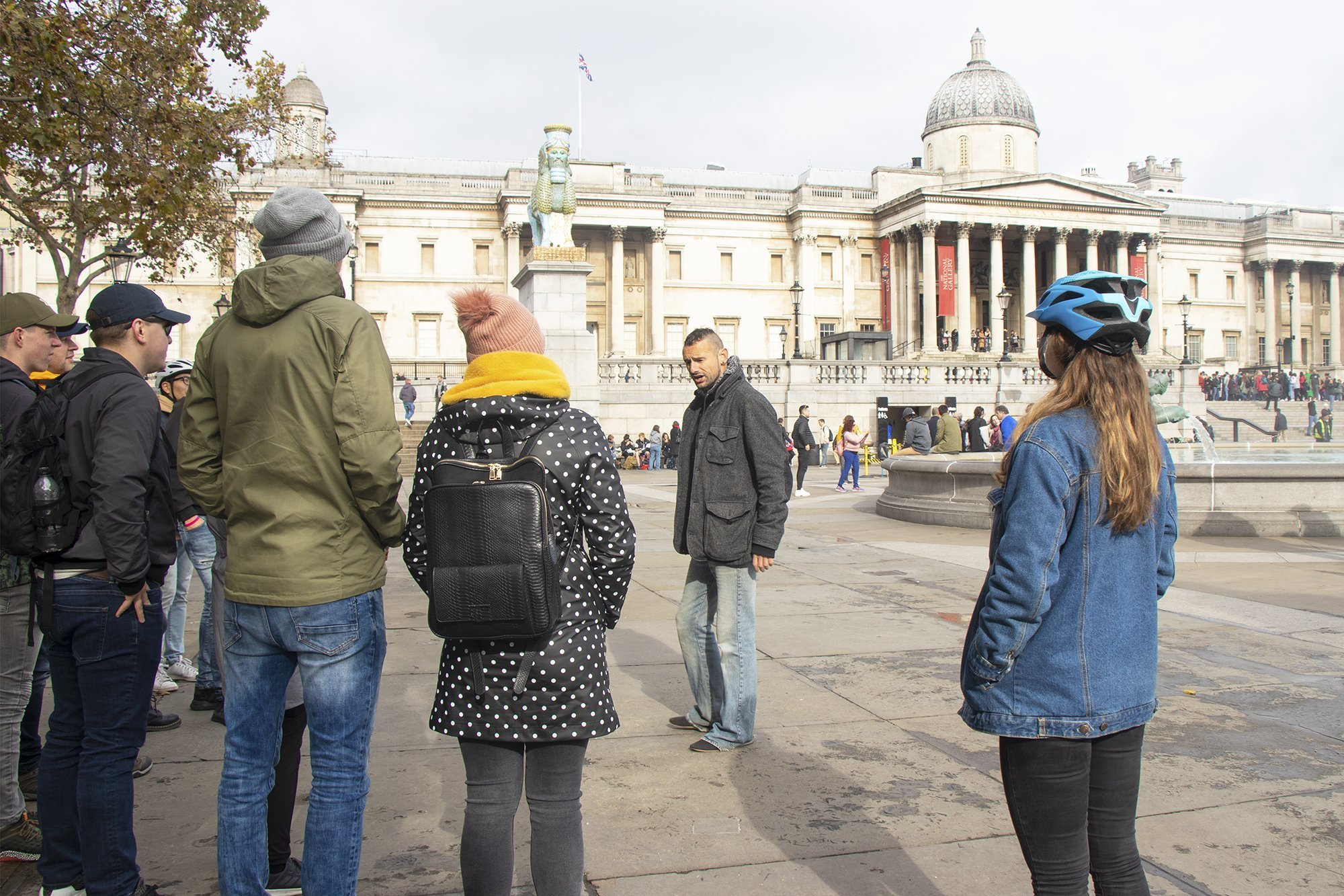 Bike tour in Trafalgar Square