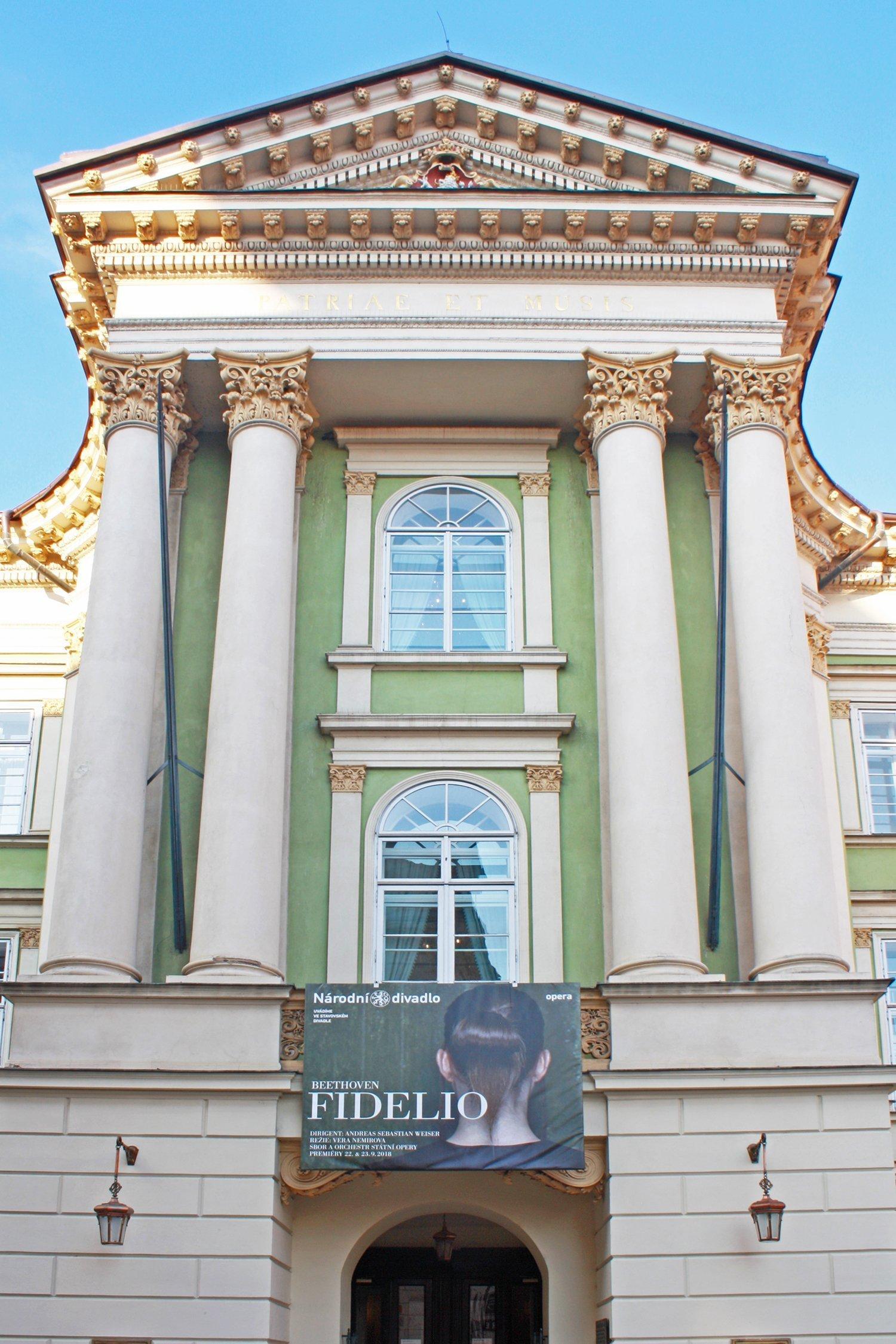 Estates Theatre, Prague entrance - Stavovske Divadlo