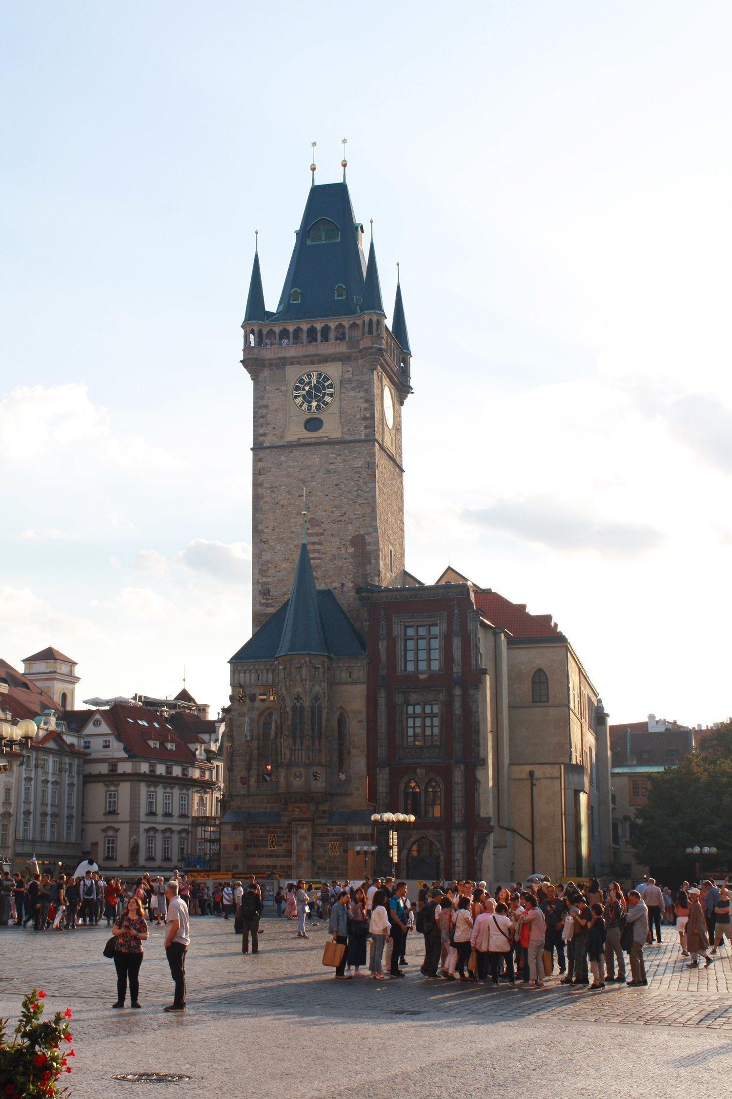 Prague astronomical clock tower
