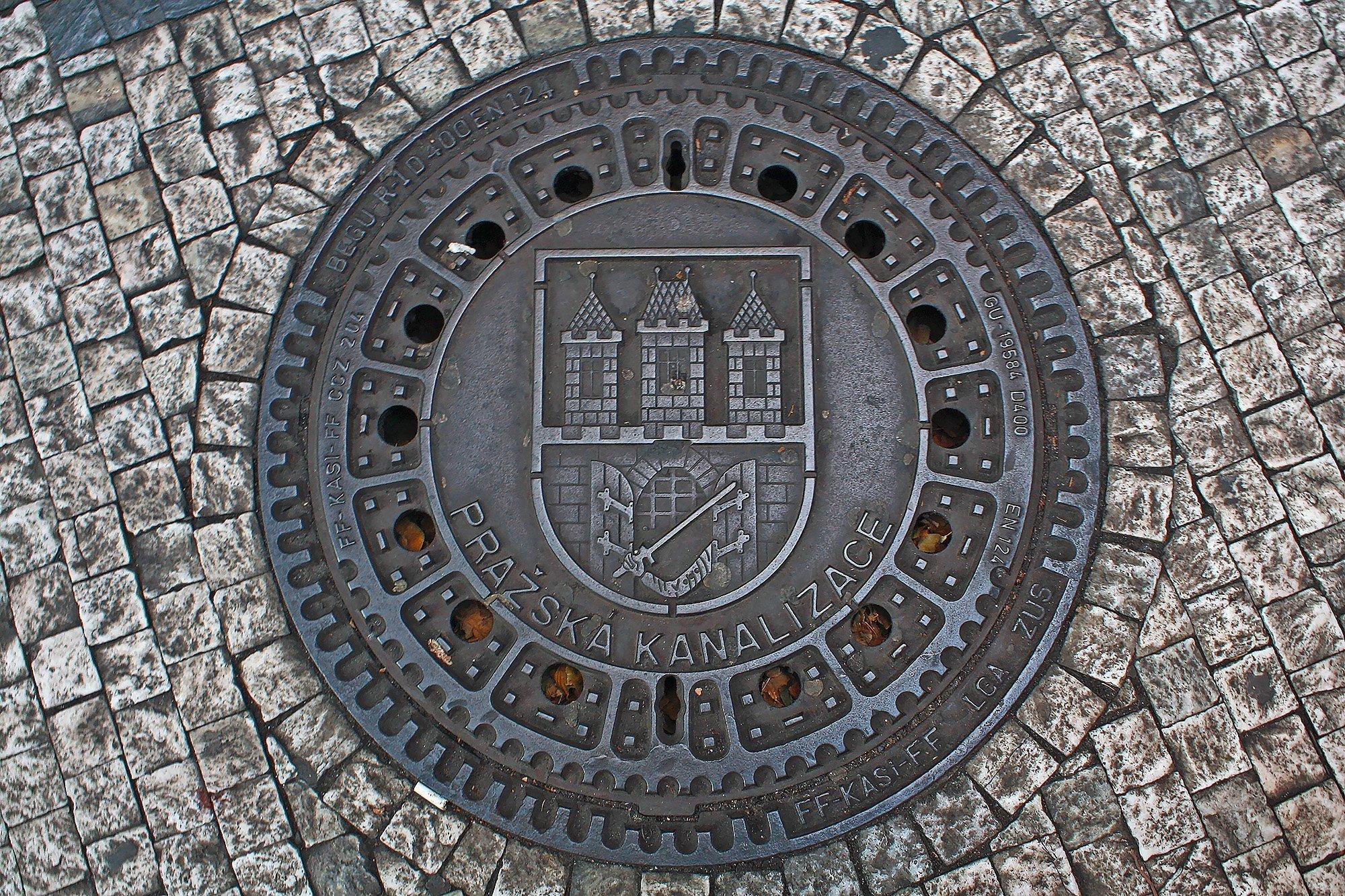 Prague manhole cover