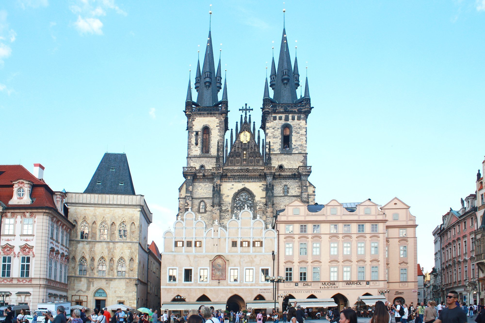 Prague old town square, Church of our lady before tyn