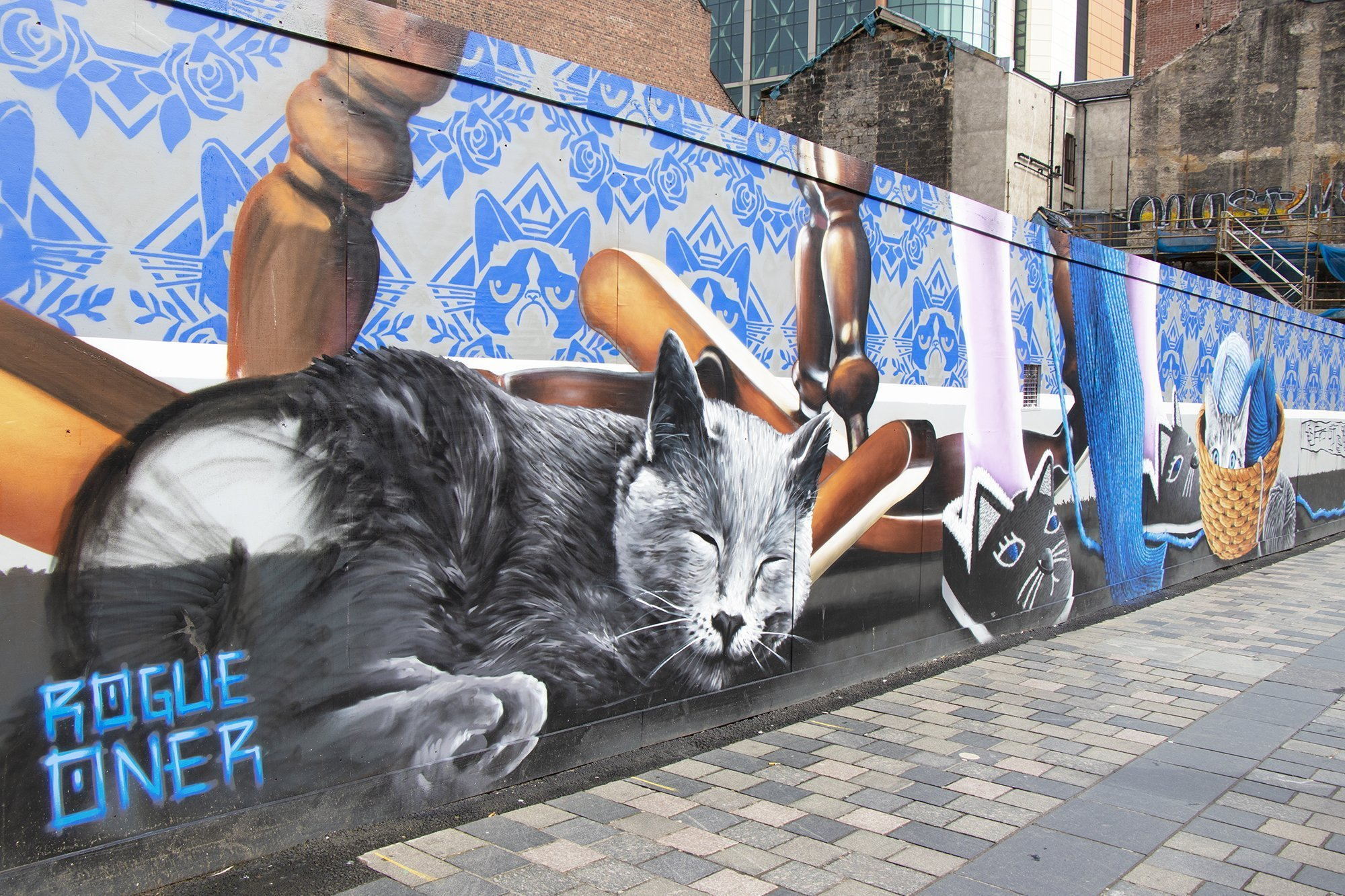 Crazy cat lady mural, Glasgow mural trail