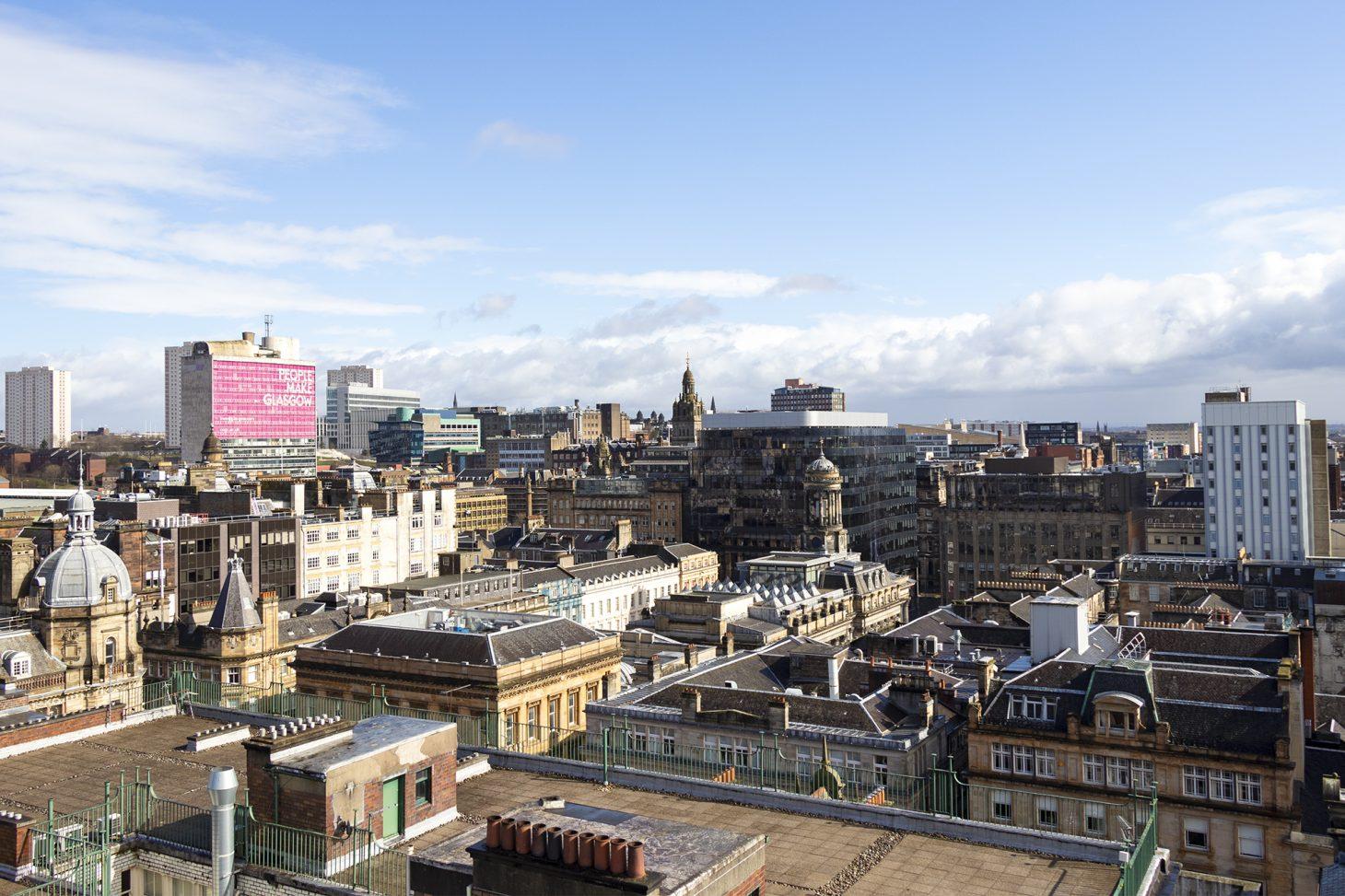 Glasgow skyline from The Lighthouse
