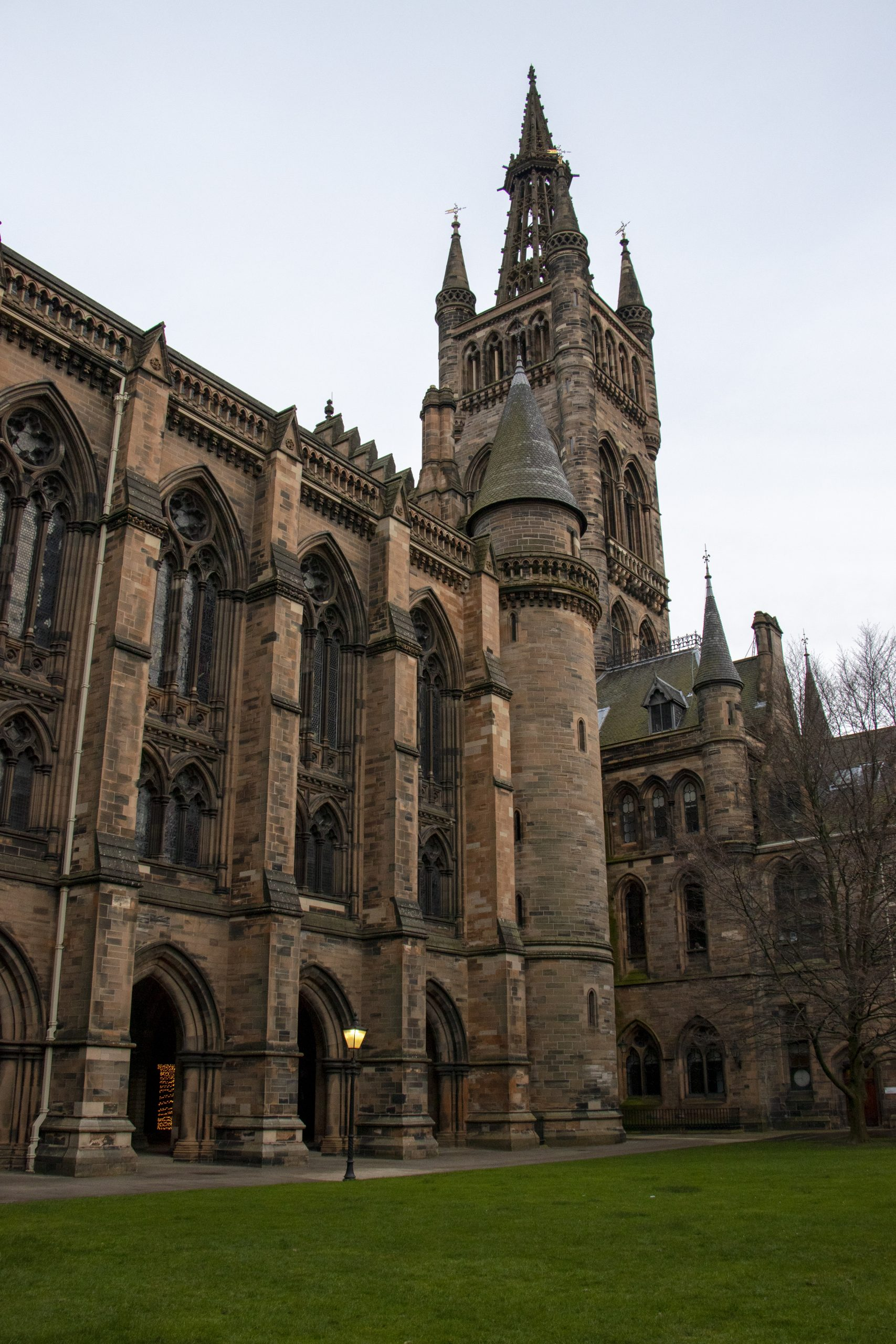 Glasgow University courtyard