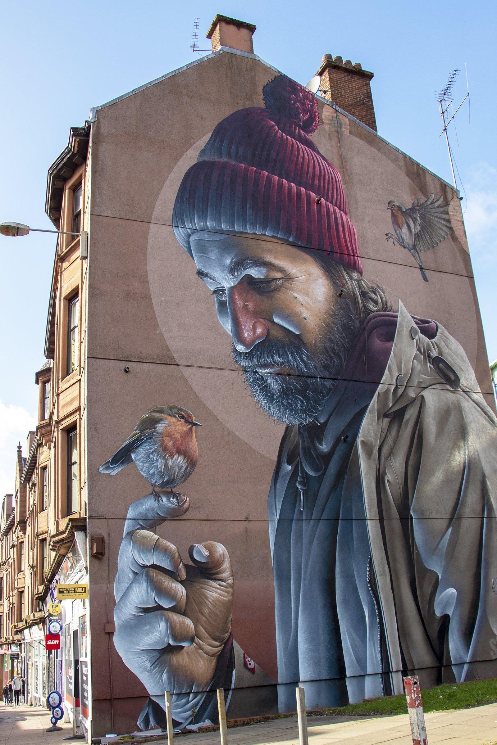 Saint Mungo mural - Glasgow mural trail