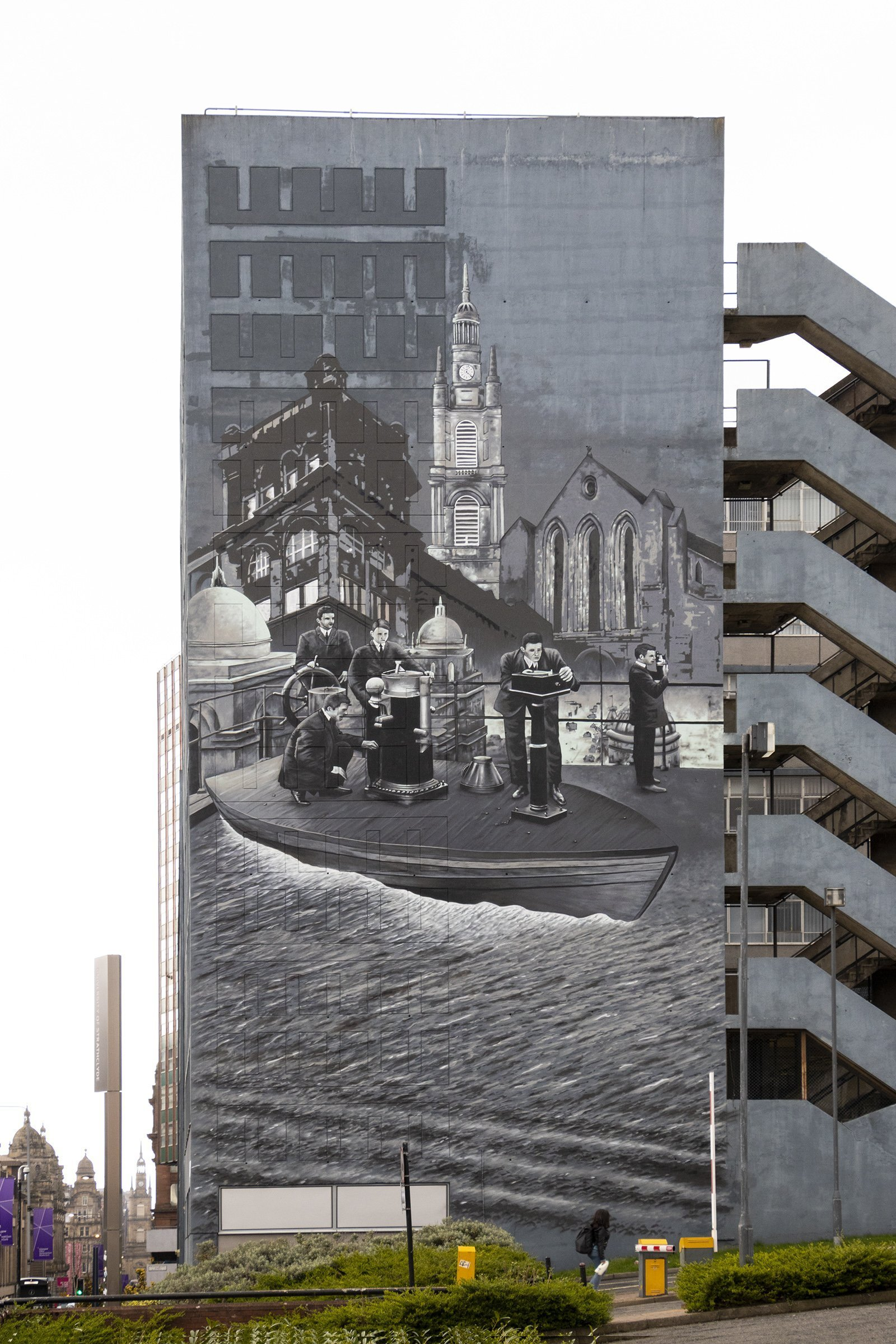 Strathclyde University mural building - Glasgow mural trail