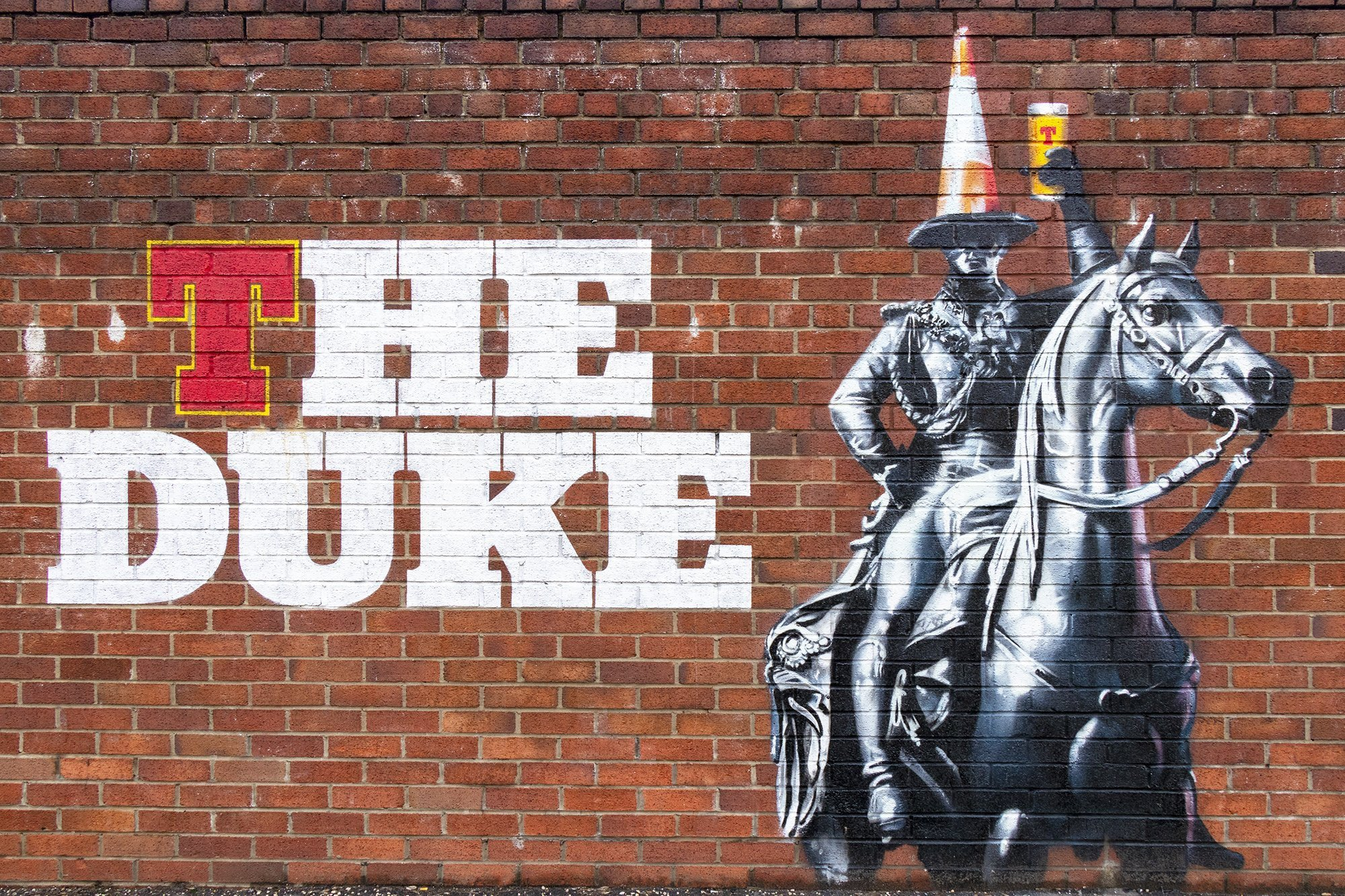 The Duke graffiti mural - Glasgow mural trail