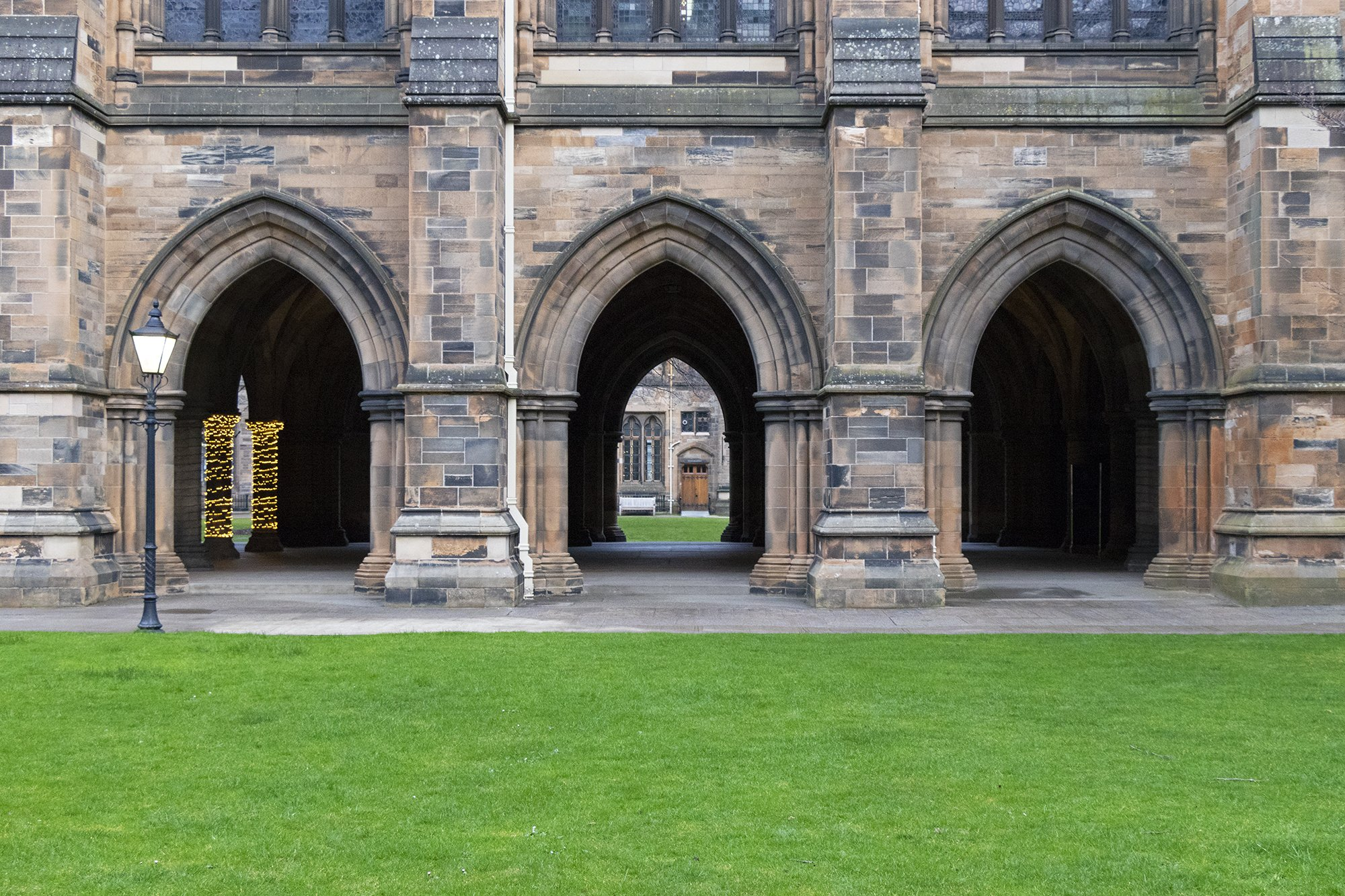 University of Glasgow arches and cloisters