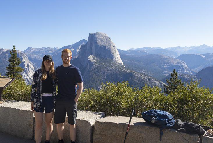 Glacier point overlooking half dome, Yosemite