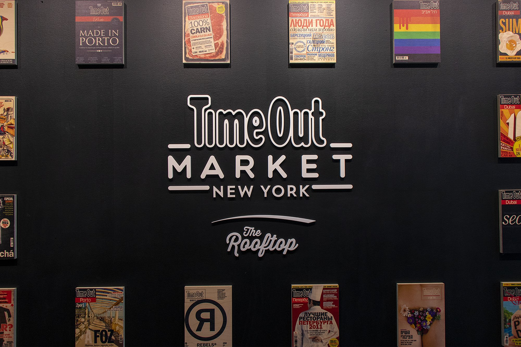 Time Out Market, New York sign