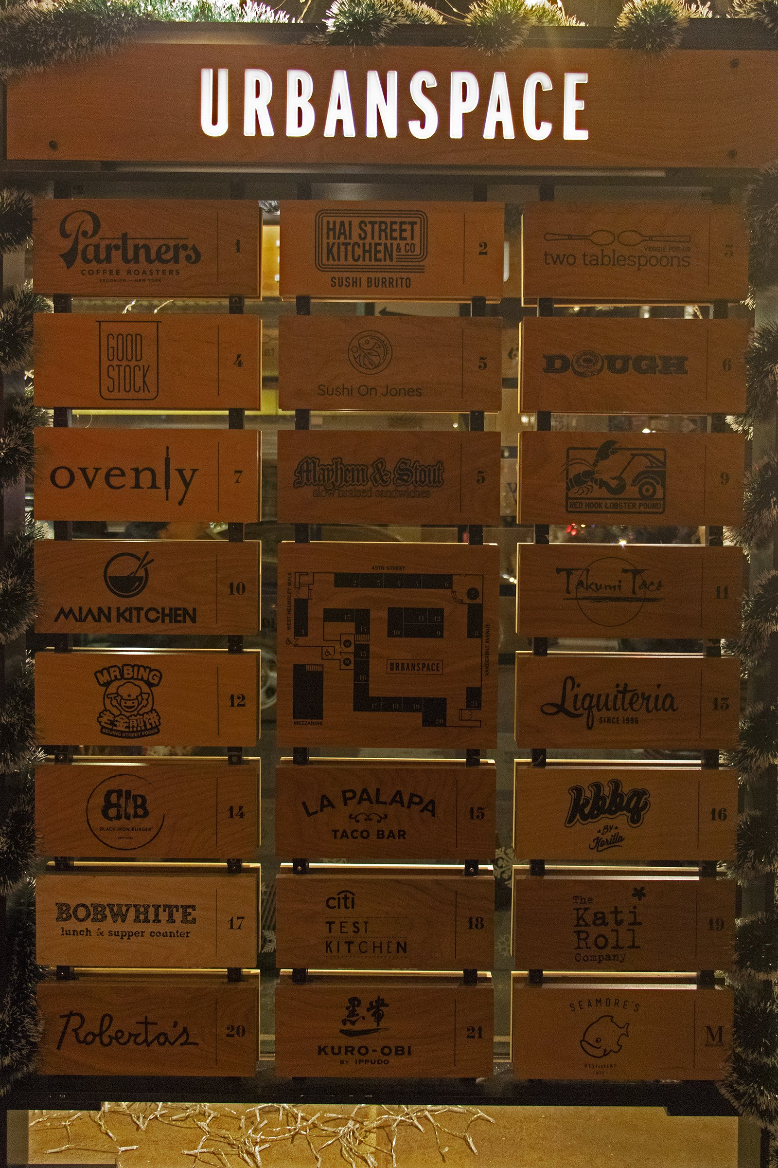Urbanspace Vanderbilt vendor sign