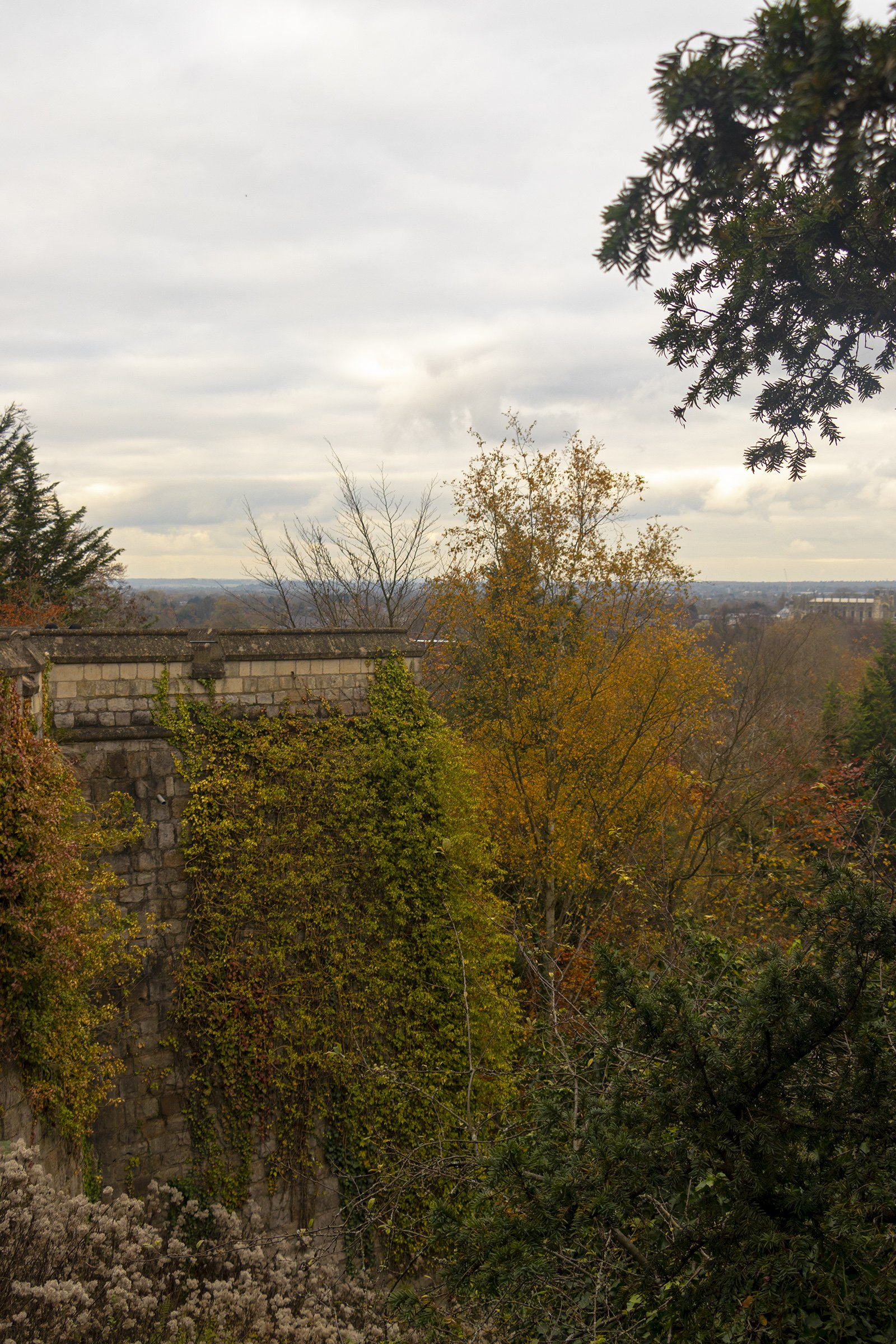 Windsor Castle walls view