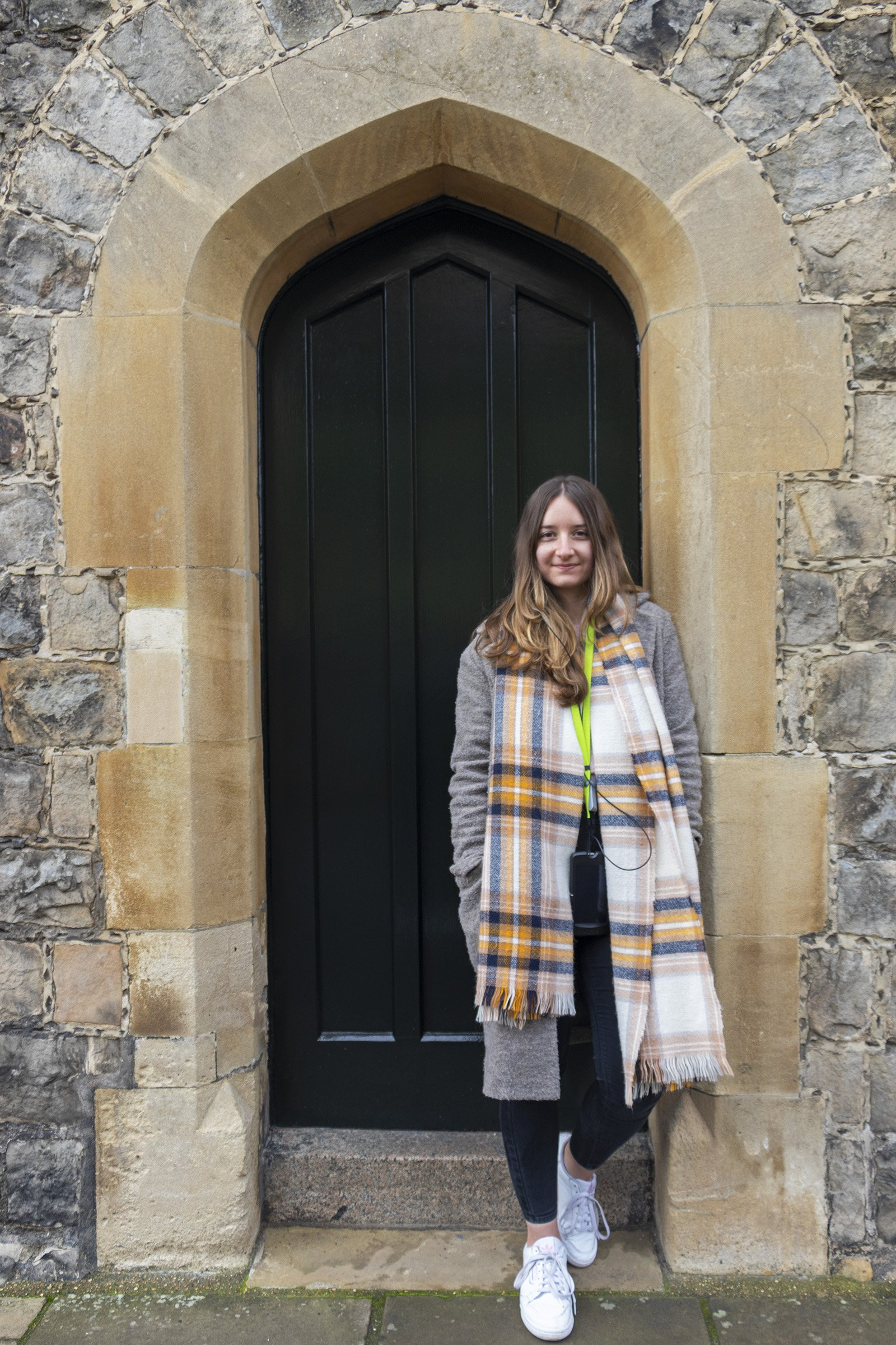 Standing in doorway in Windsor Castle