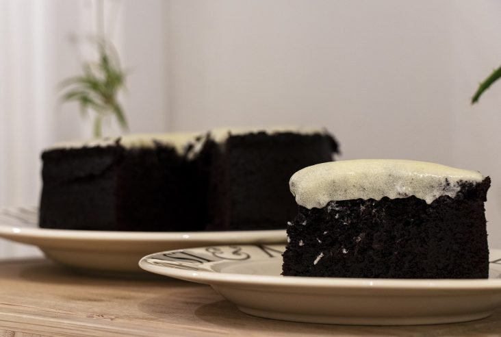 Chocolate Guinness cake slice