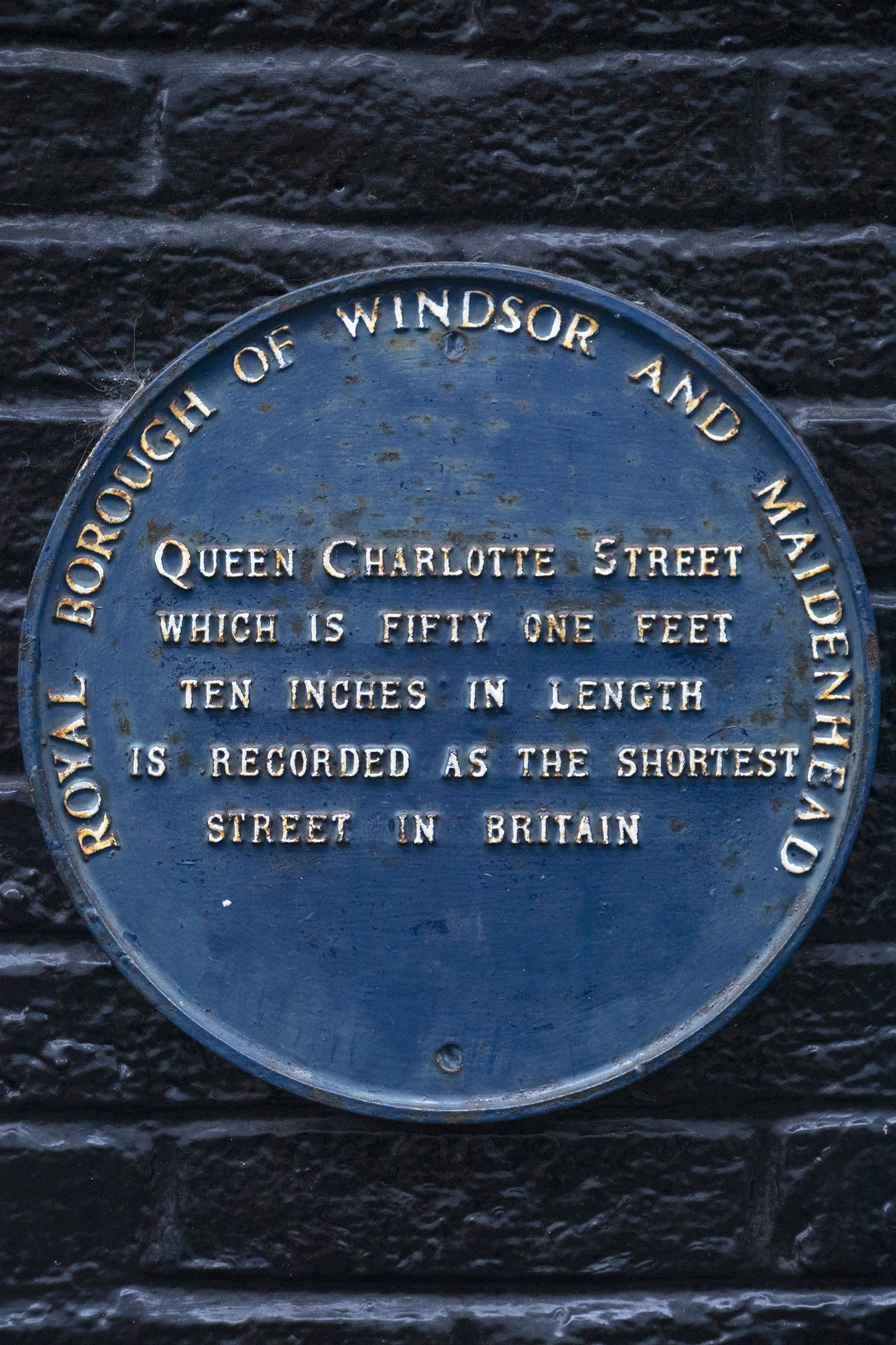 Queen Charlotte Street, Windsor plaque