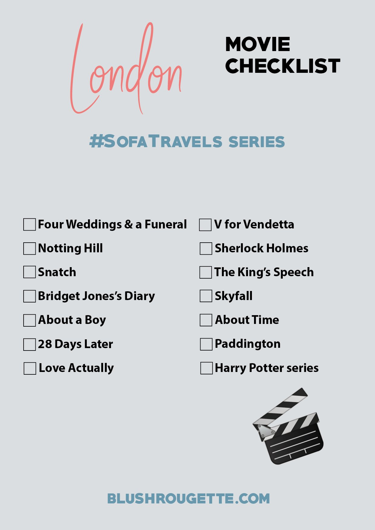 Best movies set in London checklist