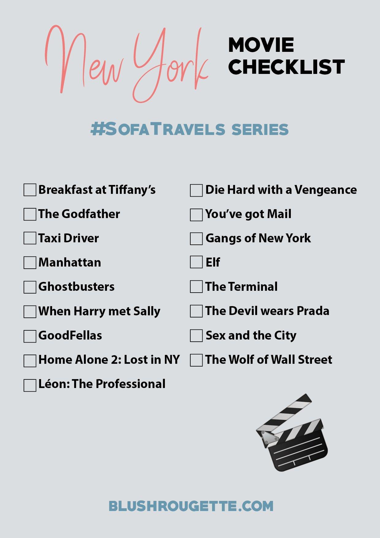 Best movies set in New York checklist