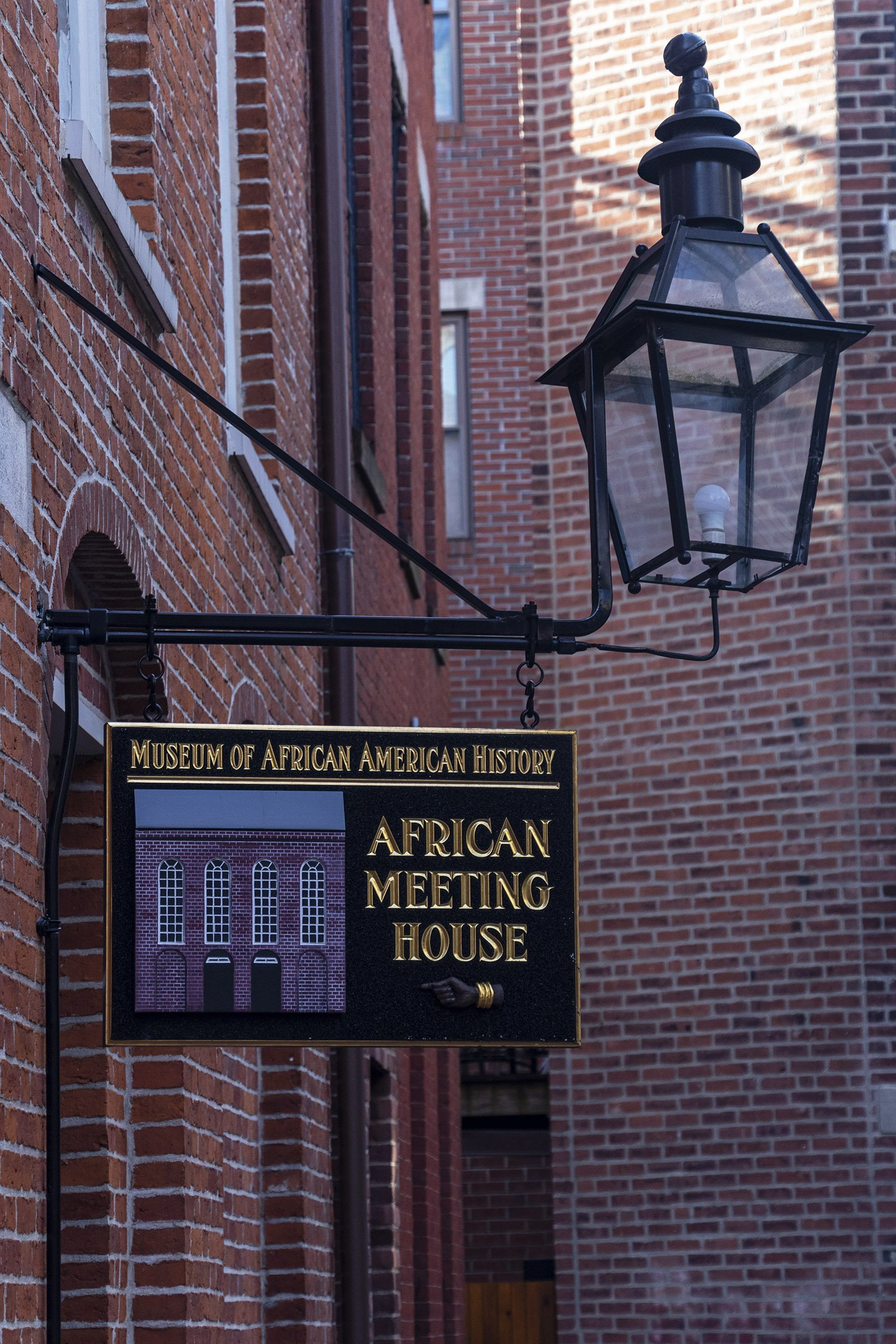 African Meeting House, Boston - Museum of African American History sign