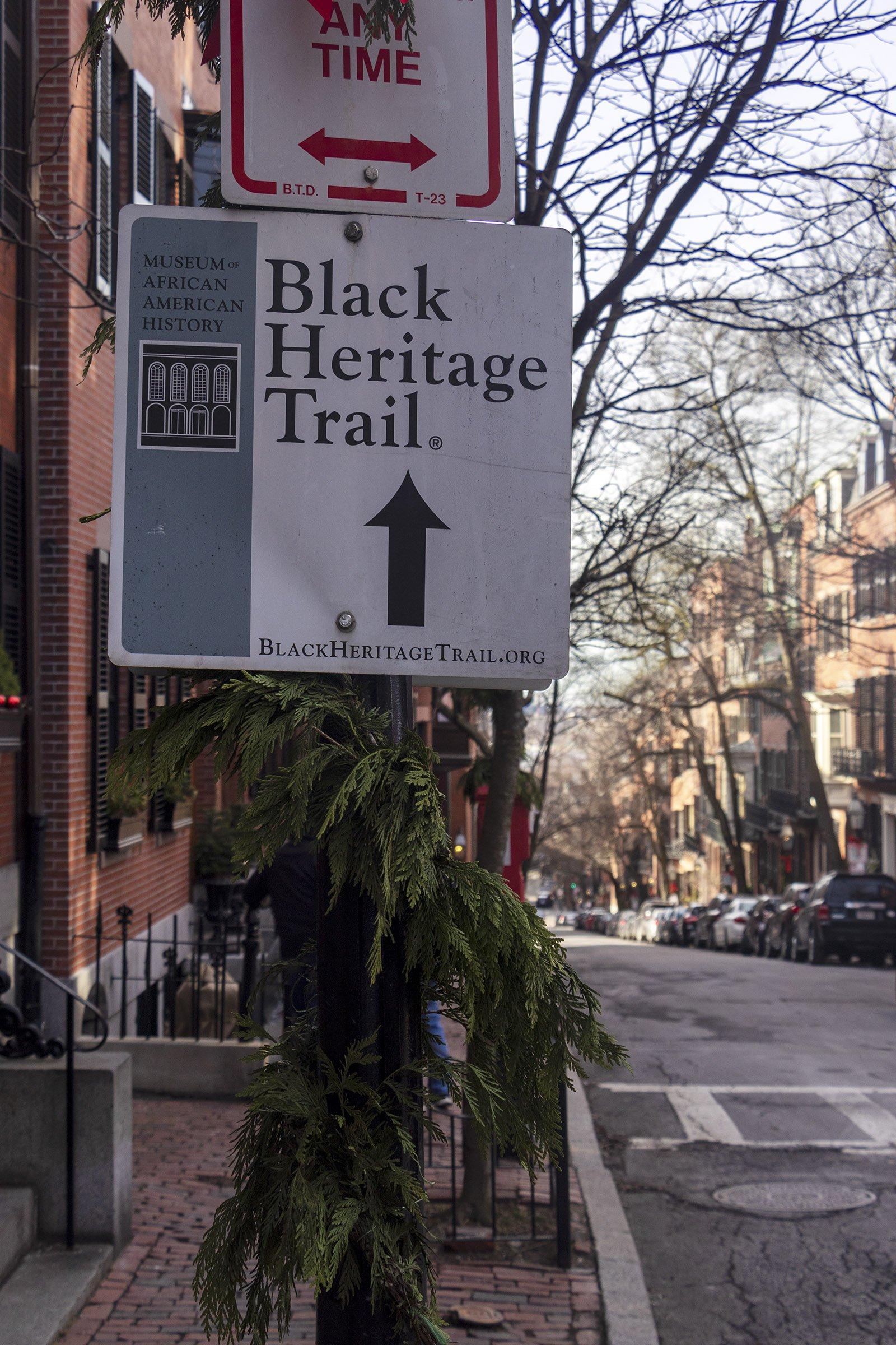 Black Heritage Trail Boston sign