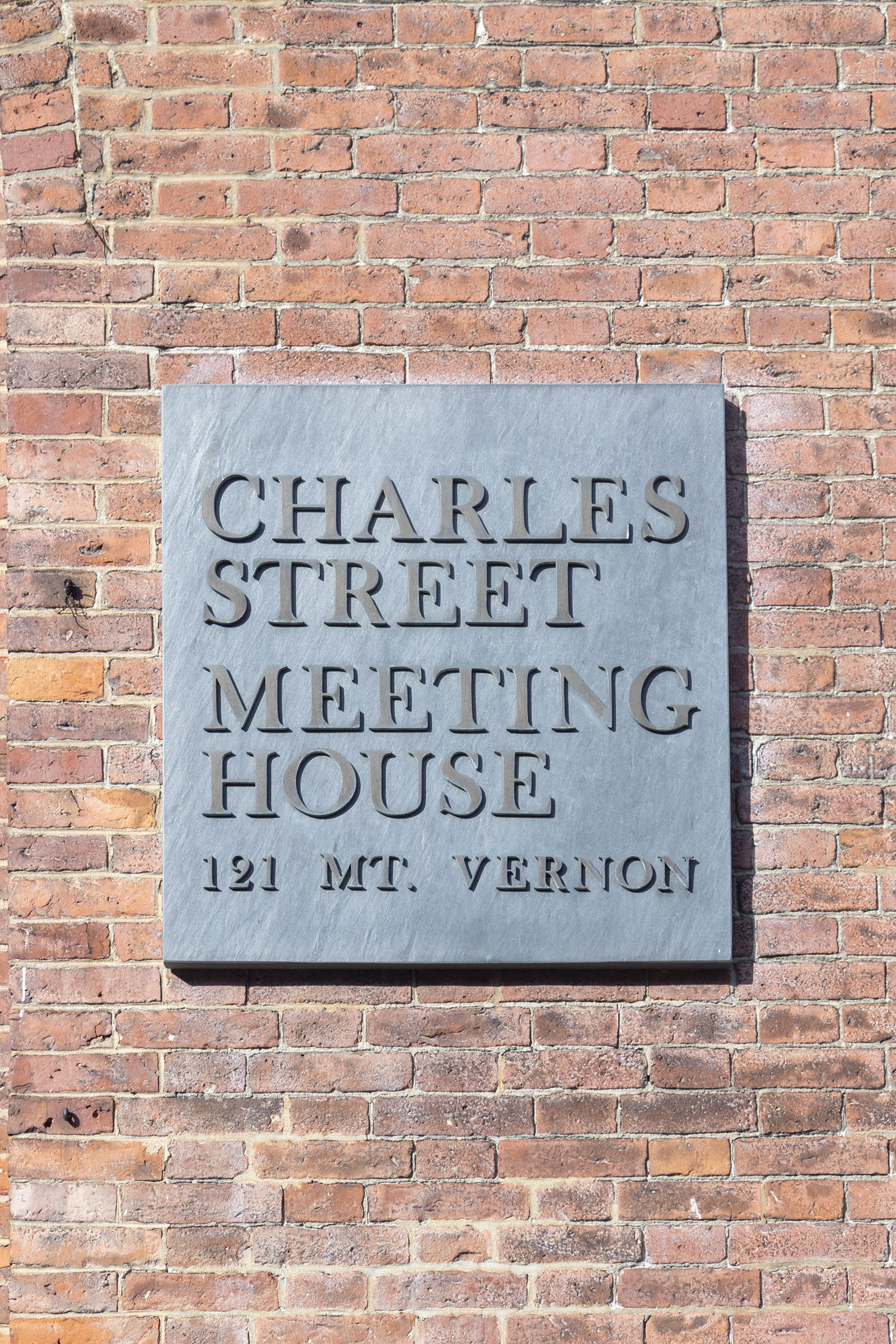 Charles Street Meeting House, Boston sign - Black Heritage Trail