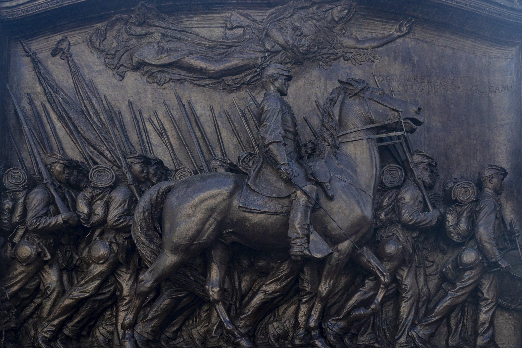 Robert Gould Shaw and 54th Massachusetts regiment memorial