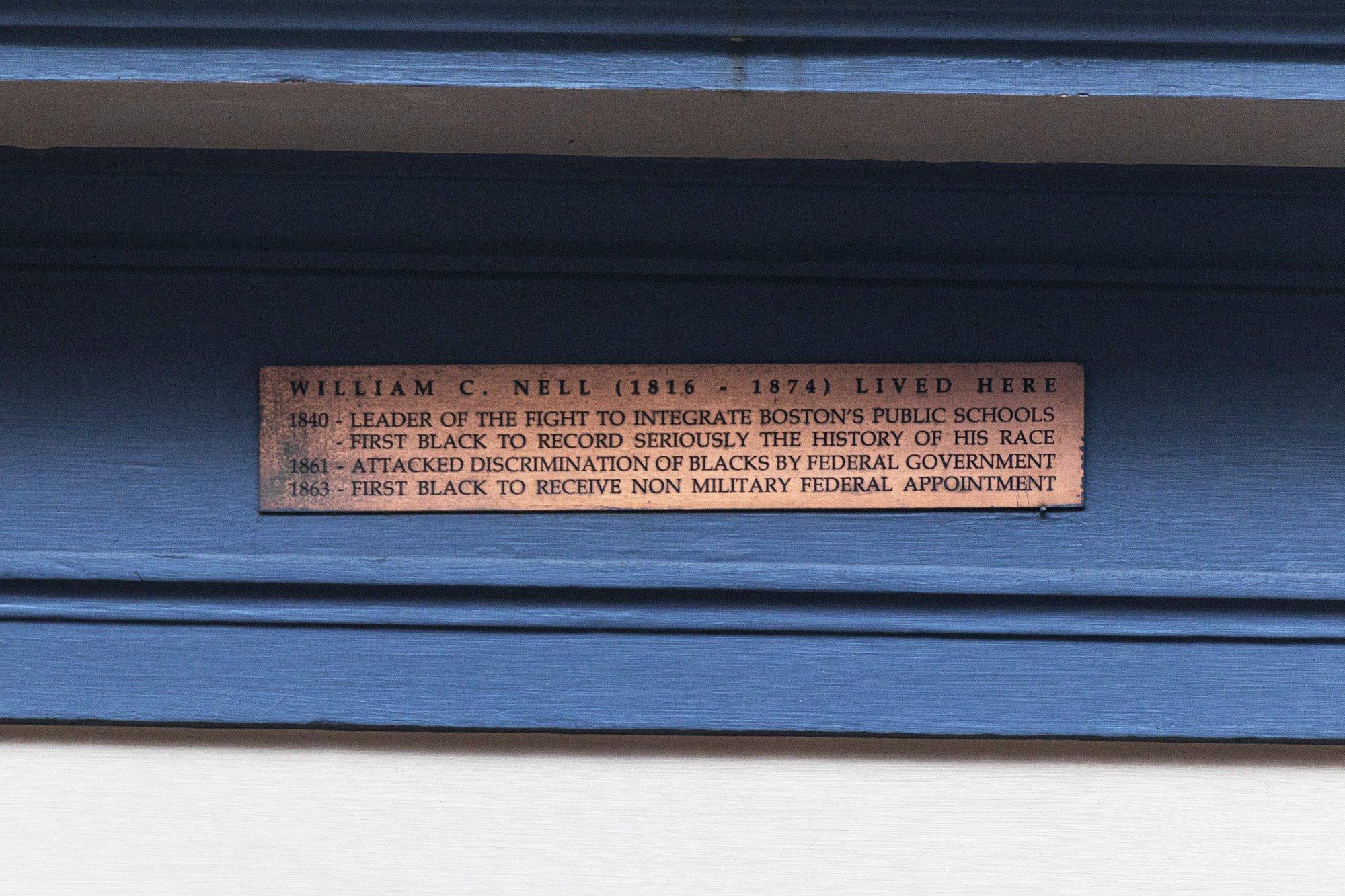 William C. Nell house plaque