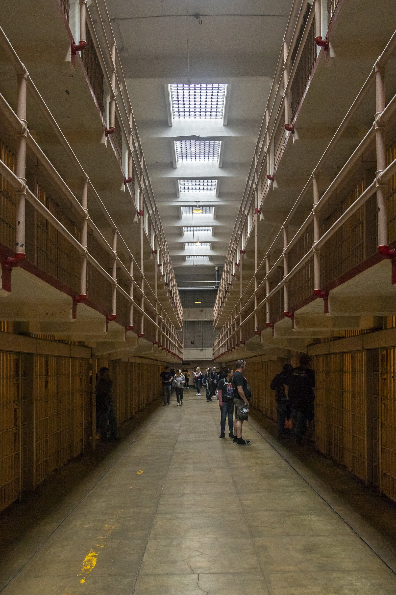 Inside Alcatraz prison cell house