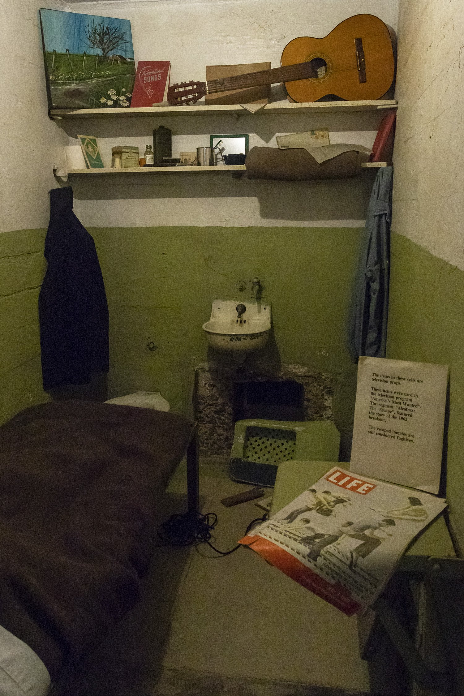 Alcatraz escape cell