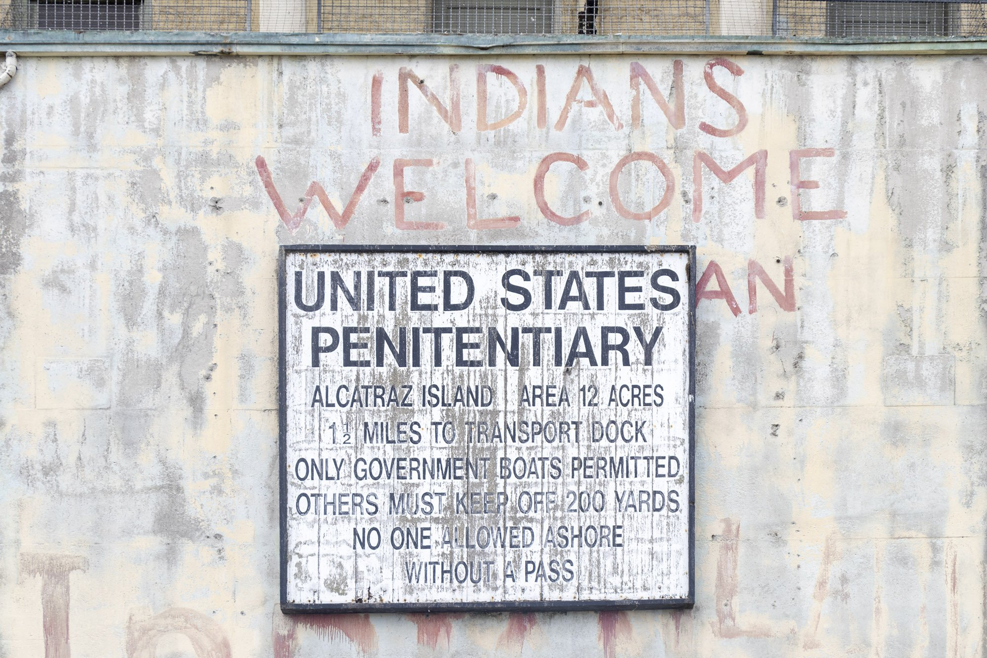 Alcatraz United States Penitentiary sign