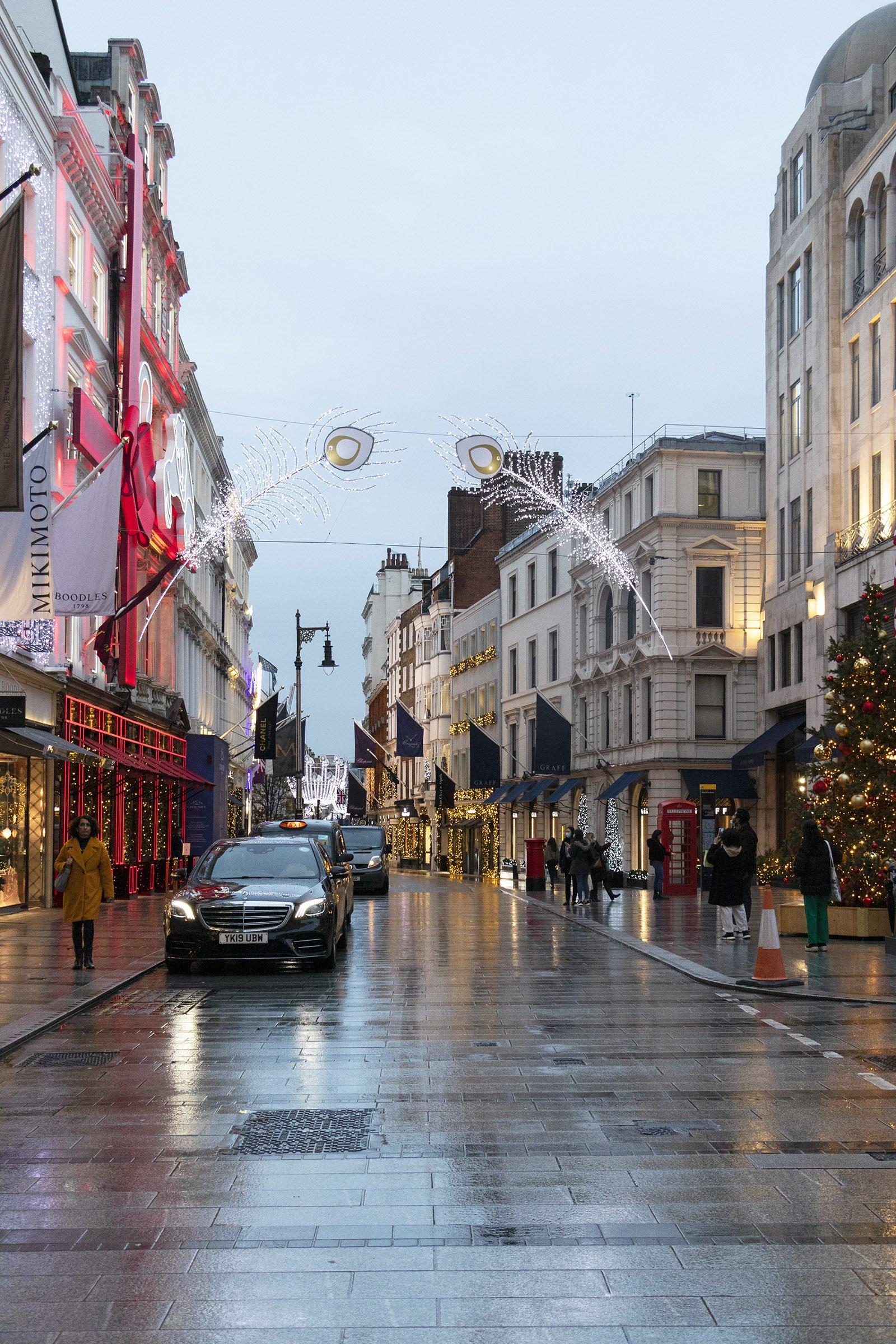 New Bond Street Christmas lights