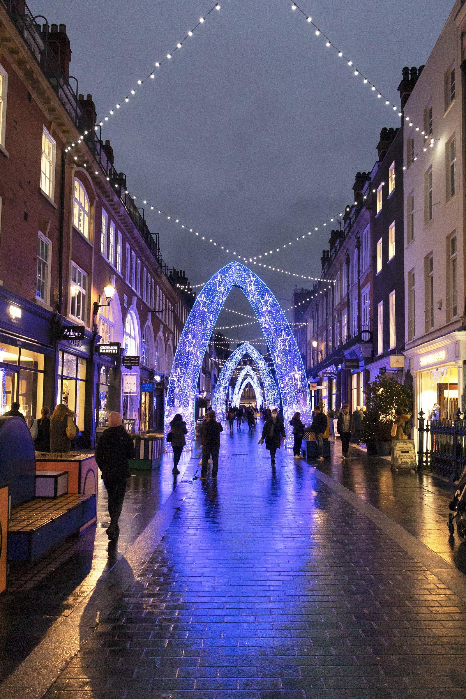 South Molton Street Christmas lights London