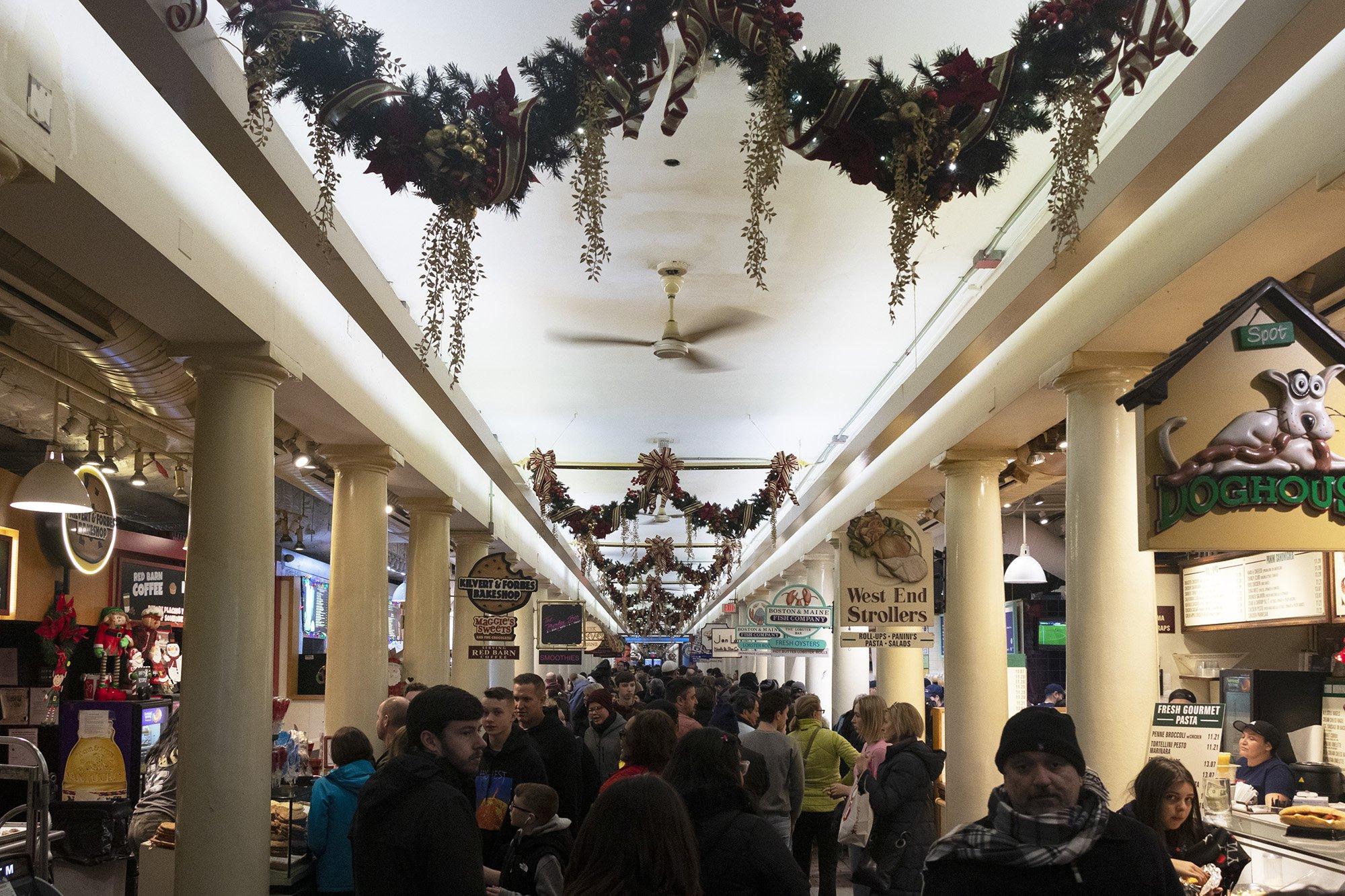 Inside Quincy Market, Boston