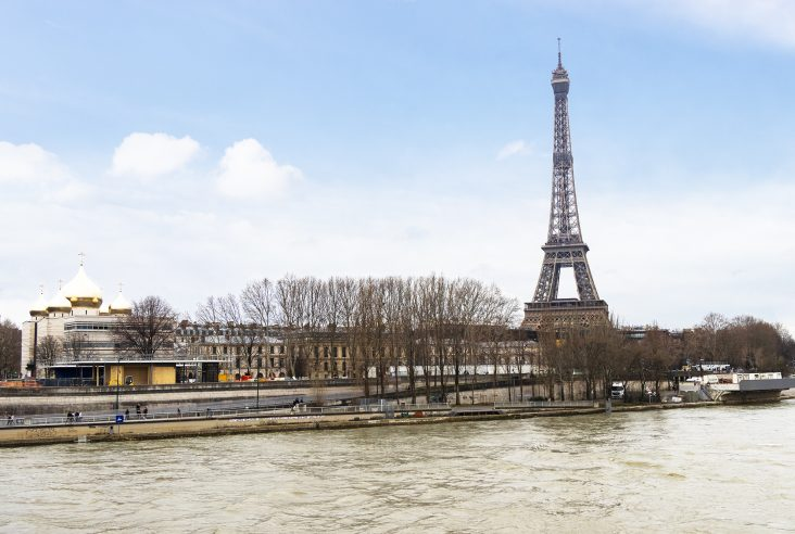 Eiffel Tower and the River Seine, Paris