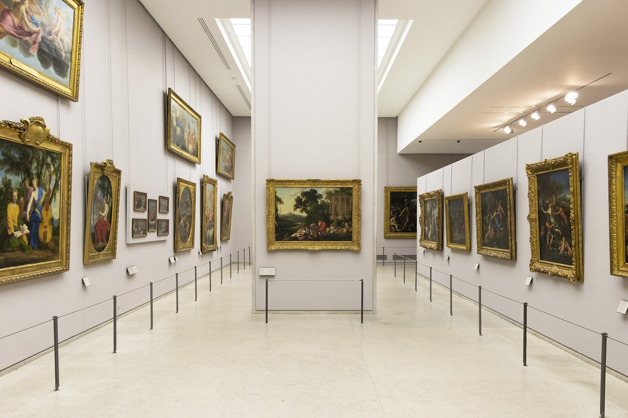 French paintings in Louvre