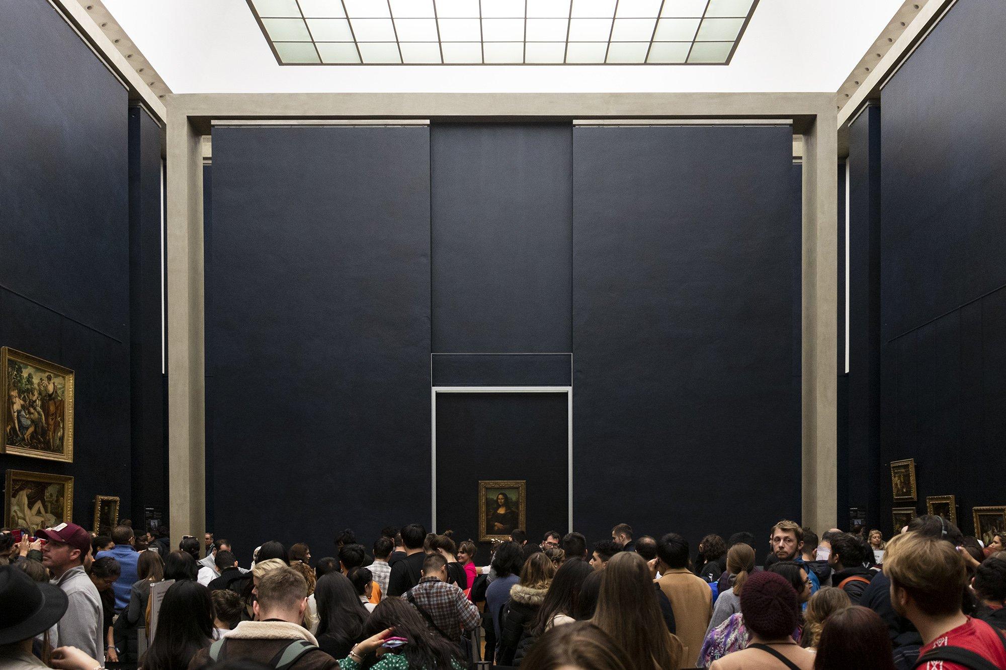Mona Lisa room - Louvre, Paris