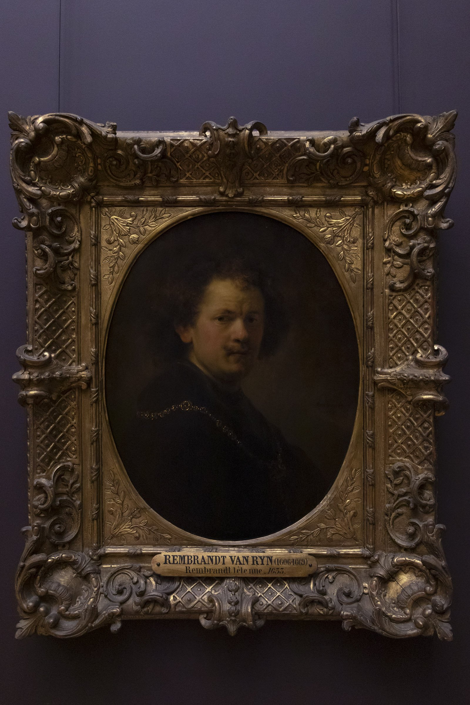 Rembrandt self-portrait 1744, Louvre