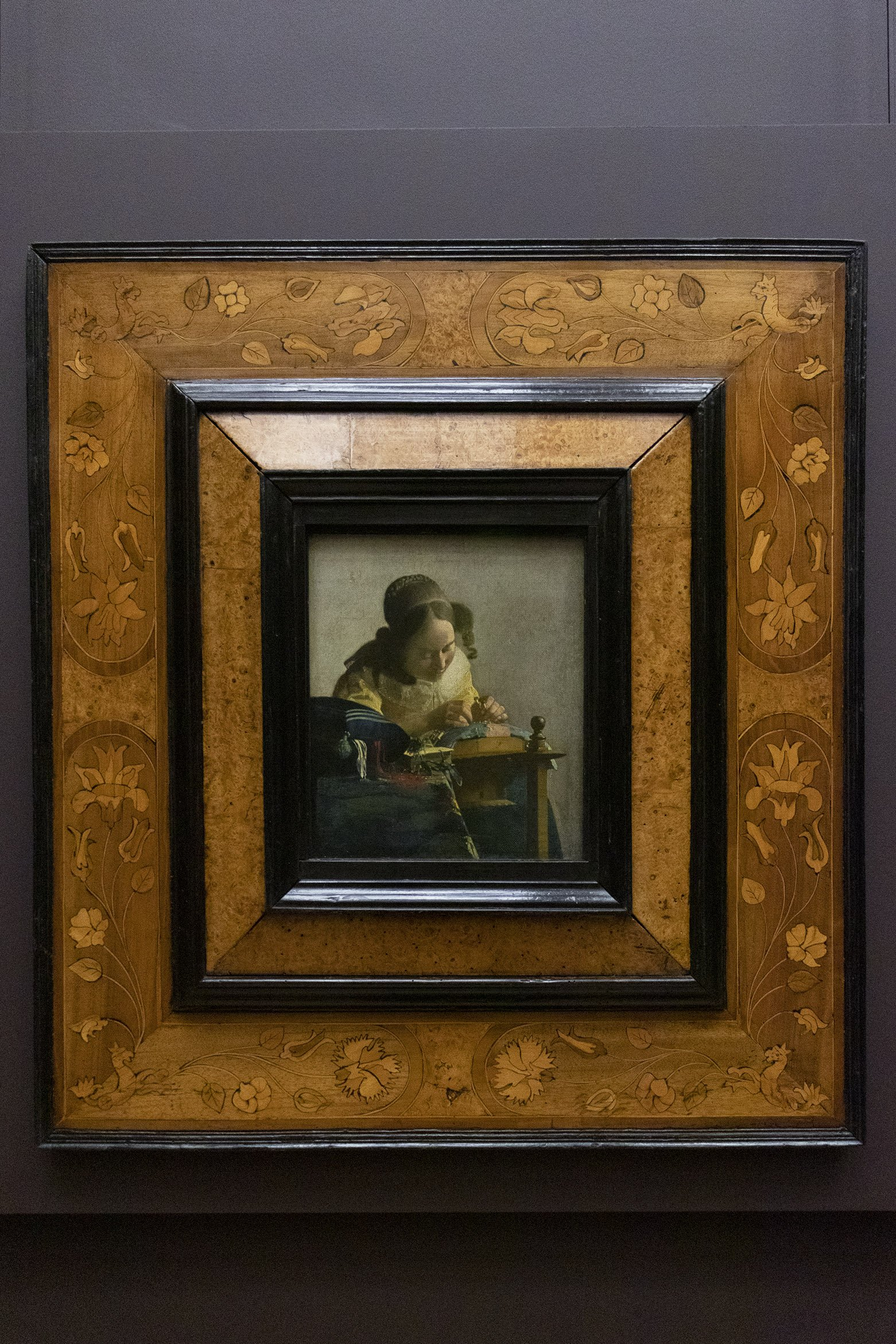 The Lacemaker by Vermeer, at the Louvre