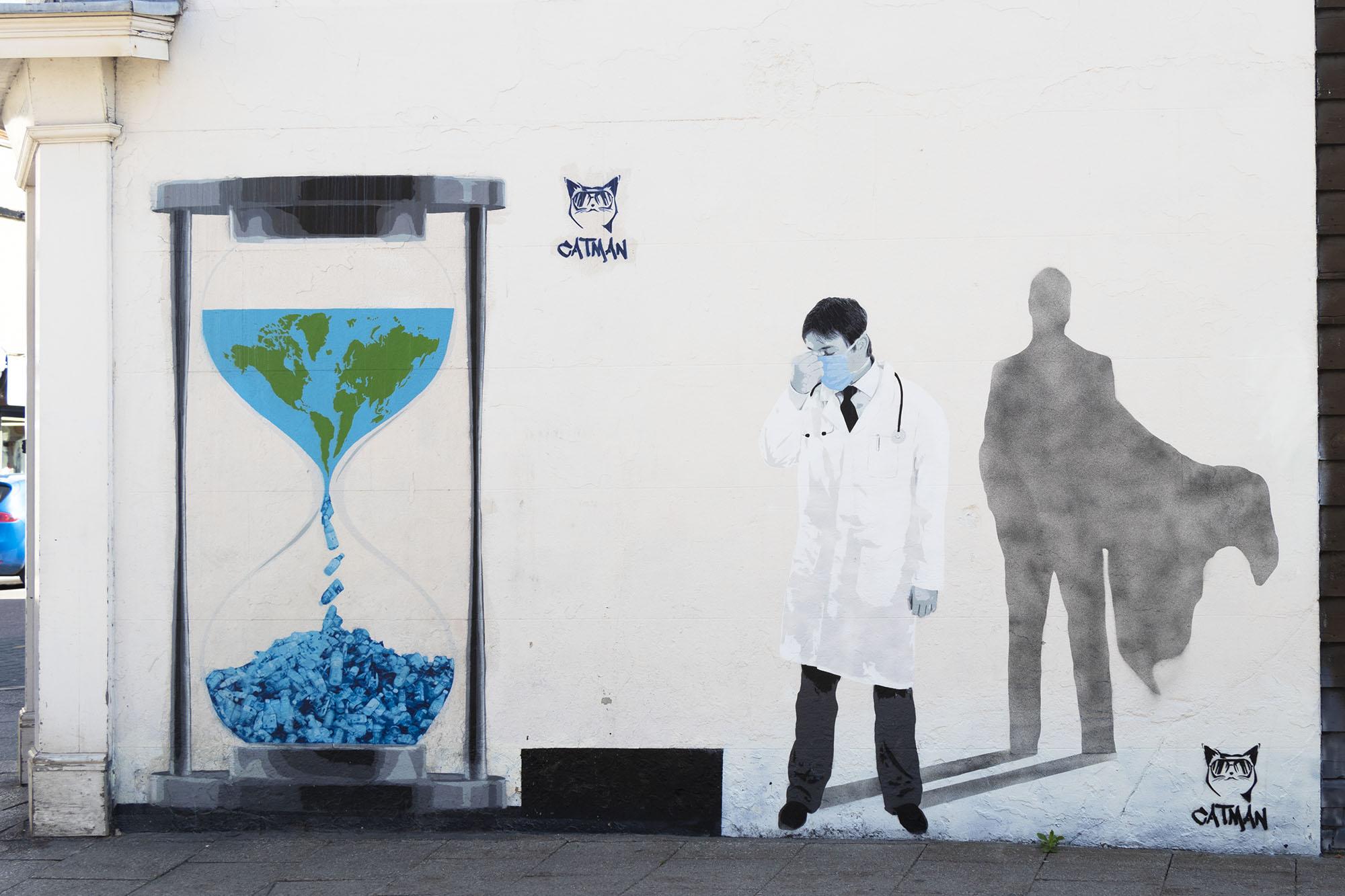 Catman mural, Whitstable