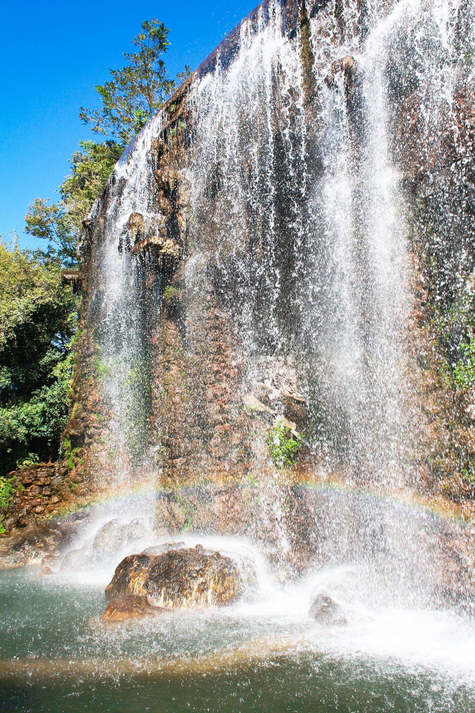 Nice castle waterfall